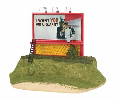 WILLIAMS ILLUMINATED UNCLE SAM WANTS YOU OPERATING BILLBOARD o gauge kline 42604