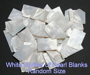 Inlay material white mother of pearl shell blanks grade A thickness 0.050