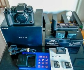 Fujifilm XT2 Digital Camera and Battery Grip plus extras
