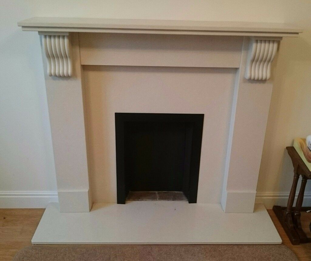 Marble effect resin fireplace surround.