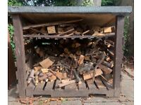 Log shed wood store