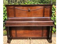 SAMES Dark Brown Upright Piano In Good Used Condition FREE LOCAL DELIVERY