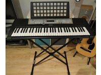 Yamaha Digital Keyboard - PSR E203 Piano with Kinsman X Stand and adapter