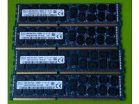 Hynix 32GB (4x 8GB) RAM 2RX4 PC3-12800R DDR3 1600Mhz ECC Server REG Memory