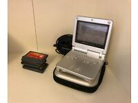 Gameboy Advance SP with four games