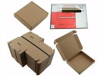 50 x Postage Boxes : 10cm x 10cm x 2cm, great for small items.