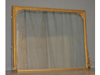 Attractive Large Antique Victorian Gilt Wood Wall Mirror For Restoration