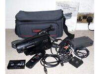 Hitachi VM-E330E Video8 8mm Camcorder With Remote Manual Power Supply & TV Lead