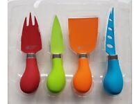 Richardson Sheffield Gripi Set of 4 Cheese Knives Coloured