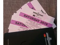 9 * GOODWOOD FESTIVAL OF SPEED SATURDAY TICKETS 14 JULY 2018 DELIVERY WORLDWIDE + BONUS CAR STICKER