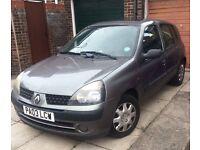 Low mileage 1.2 Renault Clio 5 door cheap tax/insurance 2x keys long mot £750 PX? Corsa 206 auto any