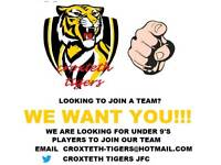 Under 9s football team looking for under 9s players