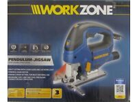 Workzone 850W Pendulum-Jigsaw with Laser Function LED Work Light Power Tool