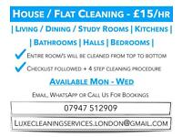 Domestic Cleaner - £15/hr - 🧽 Specialist Deep Clean 🧽