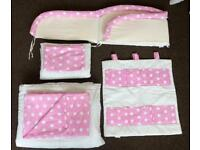 Baby girl cot bed bedding set