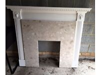 Solid Marble Fire Surround and Wooden Frame