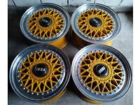 Genuine R15 BBS RM wheels - 2 Piece splits Audi VW BMW Honda Mini and more 4x108 4x100