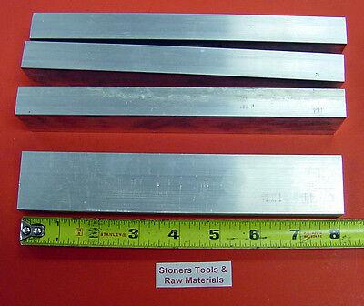 4 Pieces 34 X 1-12 Aluminum 6061 Flat Bar 8 Long .750 T6511 New Mill Stock