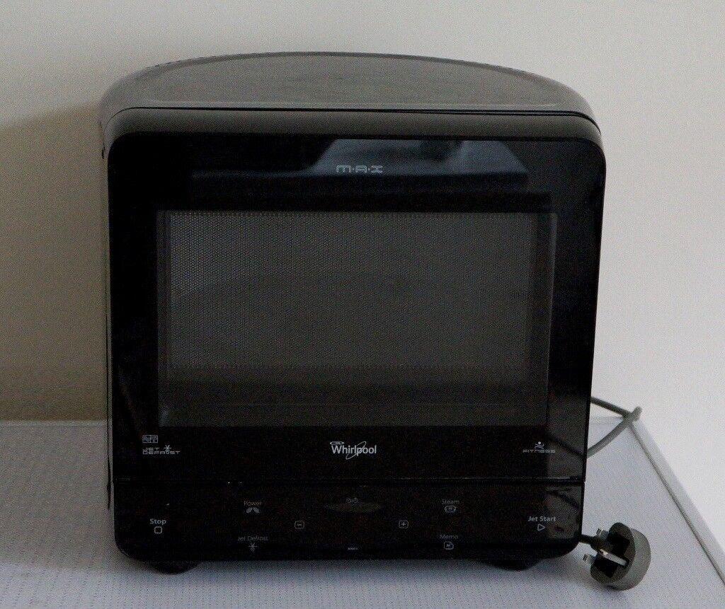 Whirlpool Max Corner Microwave Black Retro Look