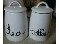 Coffee and Tea Containers