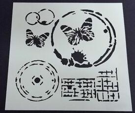 Butterflies Texture Grunge Distress Stencil Mask Template – BNIP & Free P&P