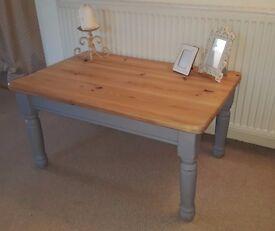 Shabby Chic Grey Coffee Table
