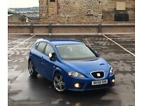 "🔵 SEAT LEON FR TDCi + BABY BLUE + HEATED LEATHER SEATS + K1 SPOILER + 18"" ALLOYS (AUDI A3/GOLF GT)"