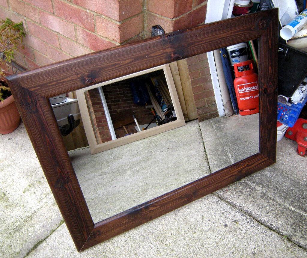 Large Framed Mirror Dark Oak (Swindon)
