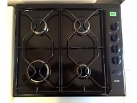 REDUCED!! - IGNIS - BLACK GAS HOB (60cm) - 4 Burners + FULLY WORKING + LOCAL DELIVERY AVAILABLE