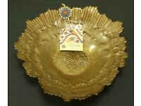 TOPKAPI COLLECTION BRONZE / GOLD BOWL HAND DECORATED GLASS MADE IN TURKEY - NEW