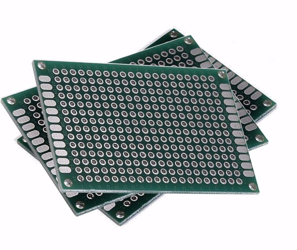 Double Sided 6x4cm Printed Circuit Board PCB Prototype Breadboard Glass Fibre