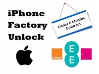 EE/T-Mobile UK iPhone Unlocking (Under 6 months contract)