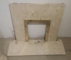 marble hearth and inset
