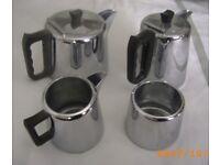 Tea / Coffee Pots Set stainless steel Bristol (Oldland Common)