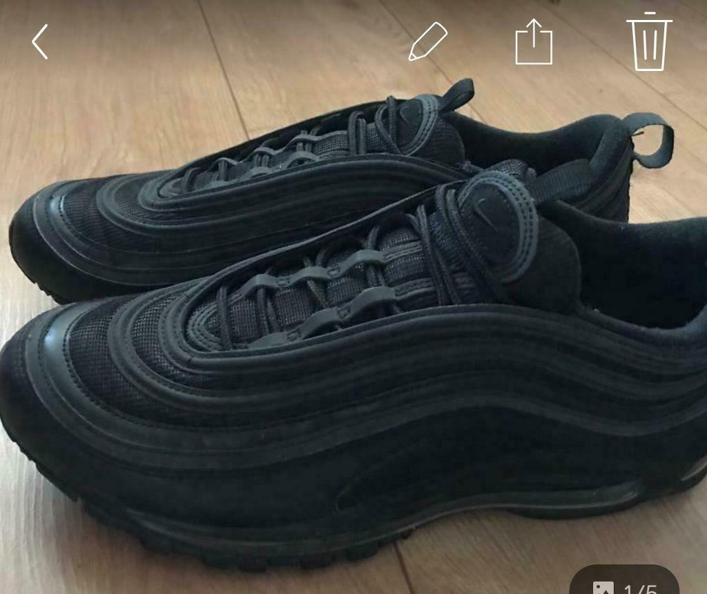 huge selection of 67e74 daa01 Brand New Nike Air Max 97s Triple Black Size 10 | in Leyton, London |  Gumtree