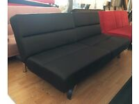 New 'Vienna' 3 Seater Black or BrownFaux Leather Sofa Bed (Free Local Delivery)ex display