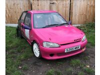 106 gti stage rally car for sale