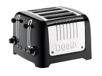 DUALIT 46205 LITE 4-SLICE BLACK GLOSS TOASTER - *BRAND NEW*