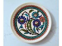 Handmade Flowery Plate