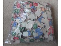 GB stamps George V Low value off paper as per photos (approx 288 grams)