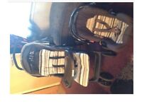Pushchair and car seat set.