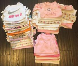 Baby Girl Clothes 0-9months (vests)
