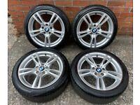 18'' GENUINE BMW F30 M SPORT 3 SERIES 4 F31 F32 F33 F34 400 ALLOY WHEELS TYRES ALLOYS 5X120