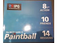 International Paintball Group (IPG) - 1 pack of 10 Tickets +1000 Balls - RRP £300