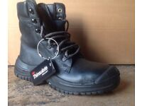 Size 6 LUPOS Combat Boots with Steel Toe Caps, Thinsulate Insulation Lining