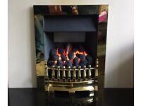 Valor Blenheim Deep Bed 3.8 kw Inset Gas Fire ( Brass )