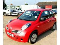 2010 Nissan Micra 1.2L Visia 3dr Red Manual *Immaculate* *Low Mileage* *New MOT*