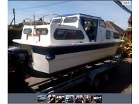 4 Bert motor boat with 15 hp engine 4 year bssc toll paid on the broads 22 ft long very good boat