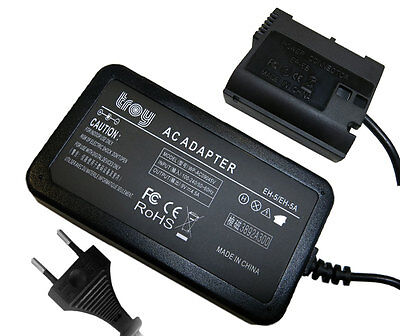 Netzteil + Kuppler für Nikon D500 D610 D750 D7000 D7100 Ersatz für EH-5 EP-5B