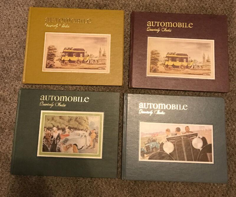 Automobile Quarterly Index - 4 Book Lot  - Various Volumes